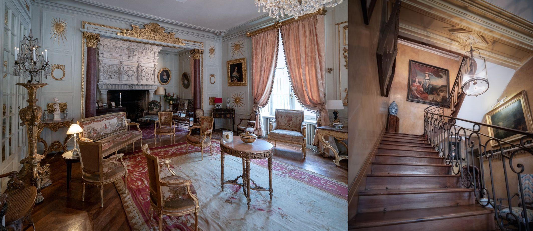 L'intérieur du château de Terre-Neuve à Fontenay-le-Comte dans le parc naturel régional du Marais poitevin.
