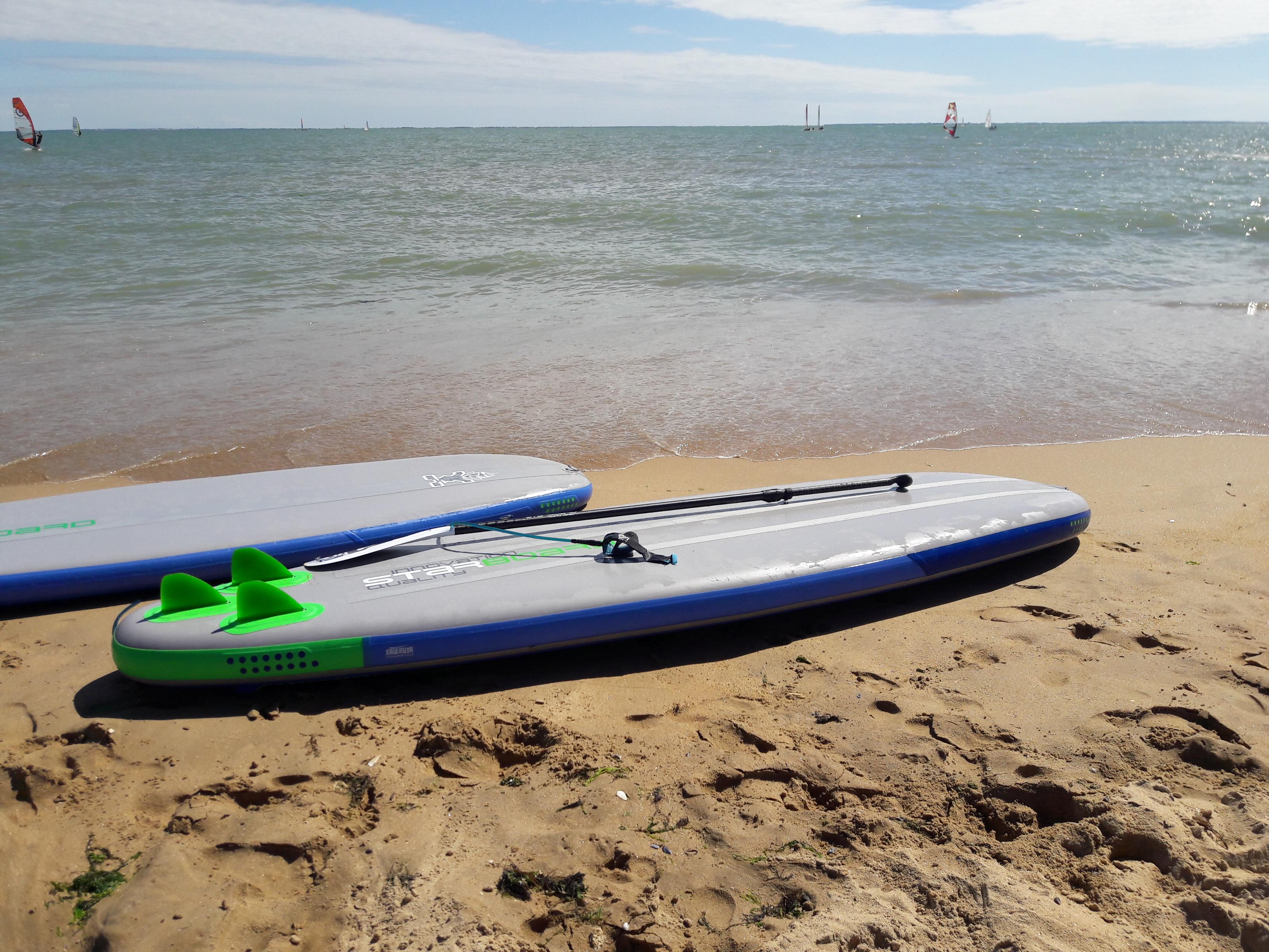 Paddle à La Tranche sur Mer dans la baie de l'Aiguillon dans le parc naturel régional du marais poitevin
