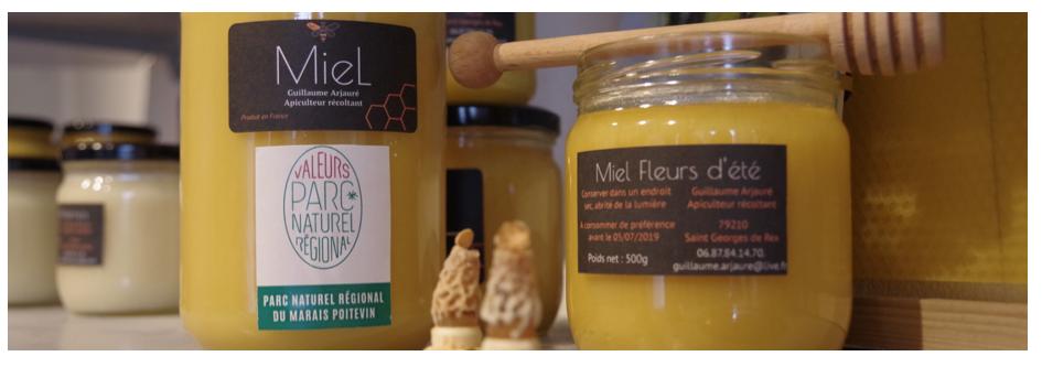 """Honey marked """"Valeurs Parc naturel régional"""""""