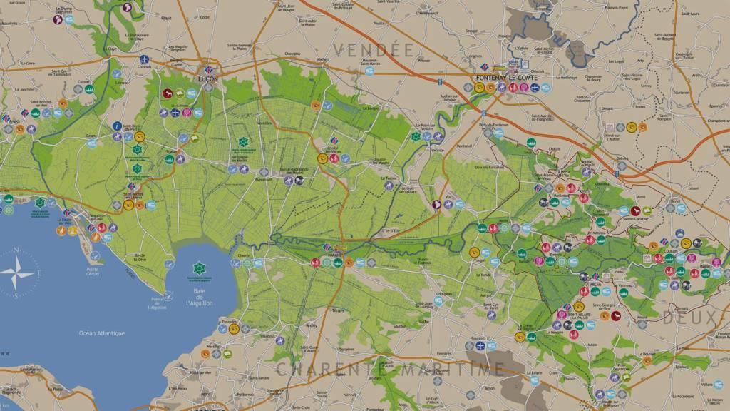 Téléchargez notre carte du Marais poitevin