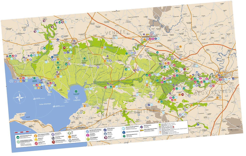 carte touristique Marais poitevin