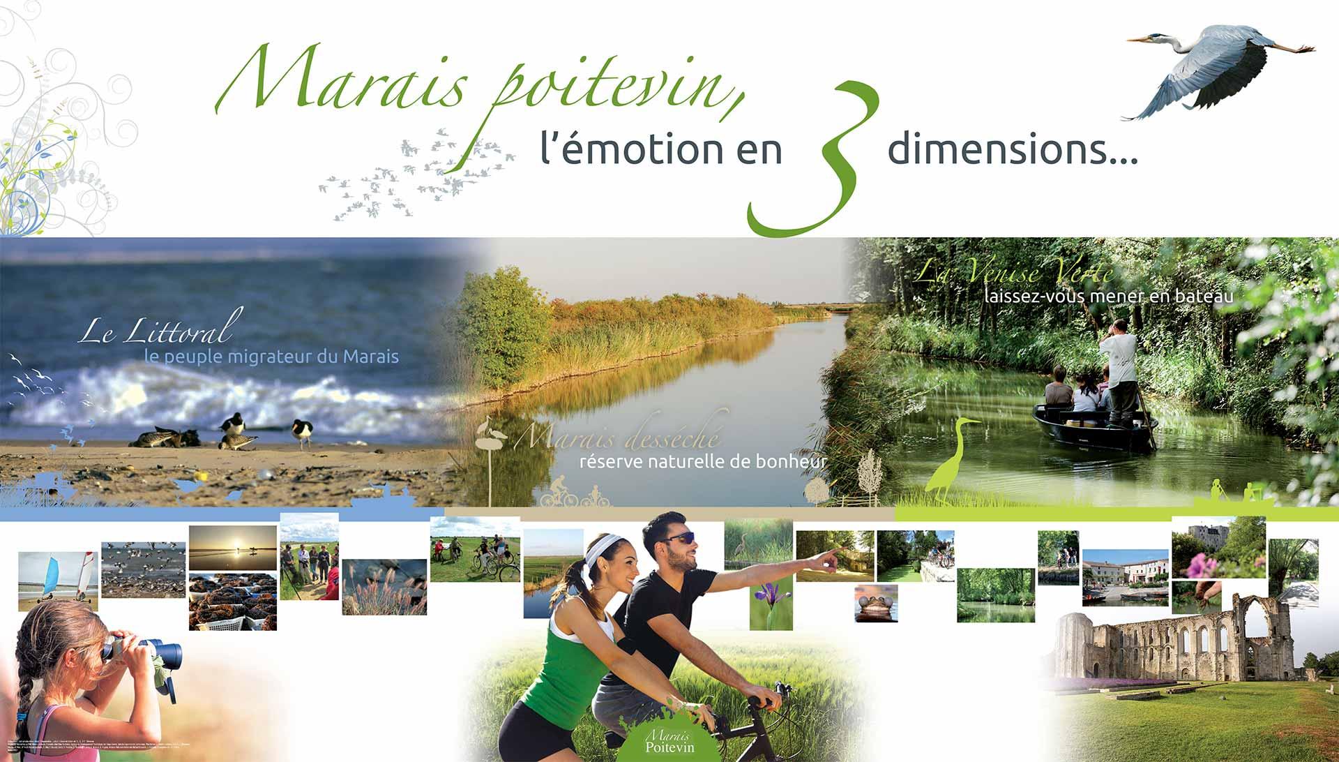 Carte touristique du Marais poitevin