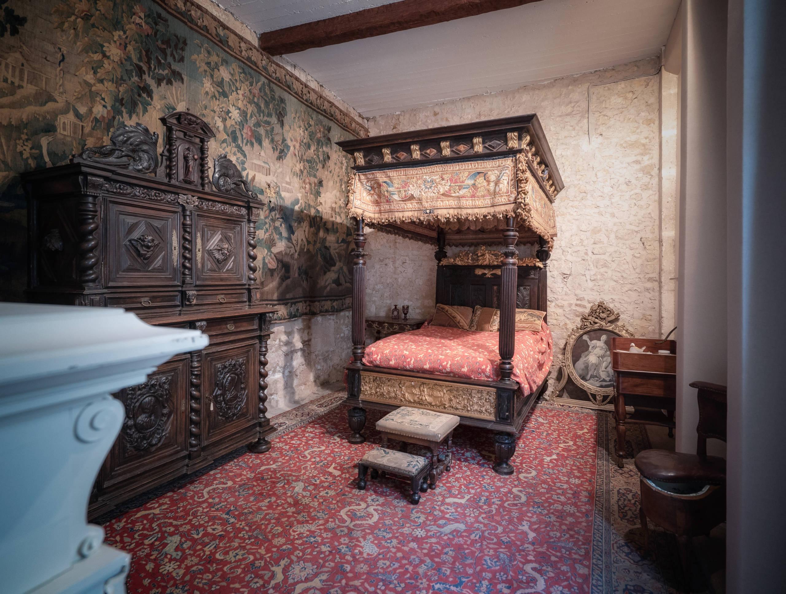 Chambre du château de Terre Neuve