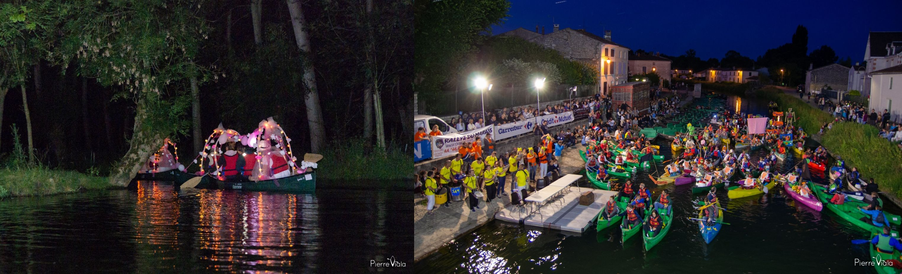 Rallye du Marais, a night-time canoeing event in the Marais Poitevin